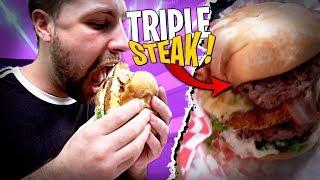 OMG !! Burger Triple Steak et 5 Fromages... Je le dégomme !