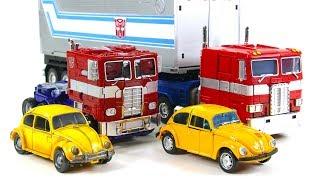 Transformers Movie Bumblebee VS G1 Optimus Prime Betle Bumblebee Truck Vehicle Car Robot Toys