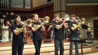"2012 Plano West Trombone Choir ""You Can Call Me Al"""
