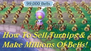3ds Animal Crossing: How To Sell Turnips & Make Millions Of Bells! (Tips And Tricks)