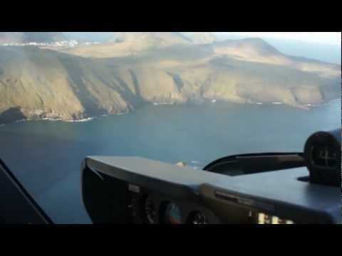 Dangerous offset approach in the world with single engine aircraft..Vestmannaeyjar Island, Iceland