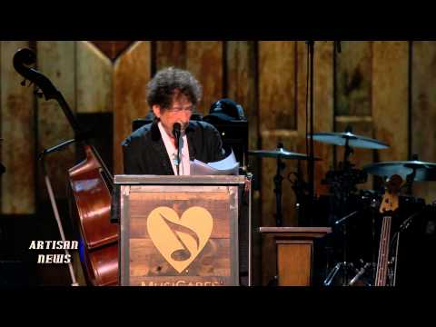 BOB DYLAN ACCEPTS MUSICARES PERSON OF THE YEAR FROM EX PRESIDENT JIMMY CARTER