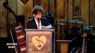 Bob Dylan accepted the MusiCares Person Of The Year award from ex p...