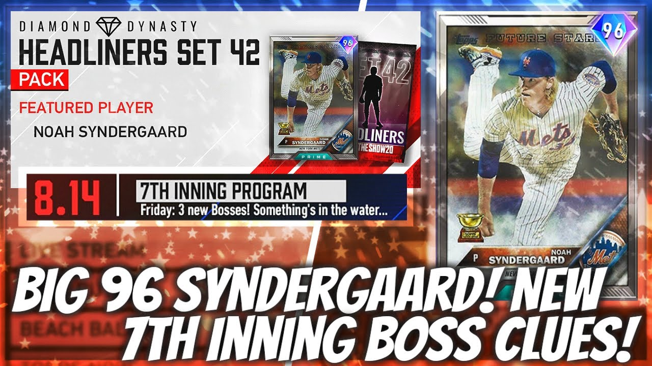 BEAST 96 Syndergaard Headliner! 7th Inning Boss Hint! 99 Frank Thomas!? MLB The Show 20
