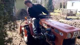 Kubota 6001 mini ciągnik ogrodniczy z glebogryzarką. www.traktorki-japonskie.waw.pl