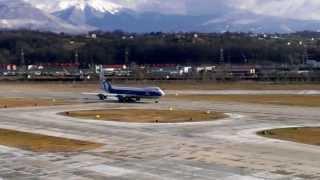 take off boeing 747 8 vq brj in sochi