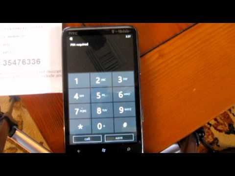 SIM-Unlocking the Windows Phone 7 (HTC HD7)
