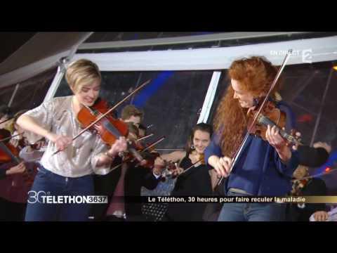 Lancement du Téléthon 2016 avec Camille & Julie Berthollet et la troupe Pavana