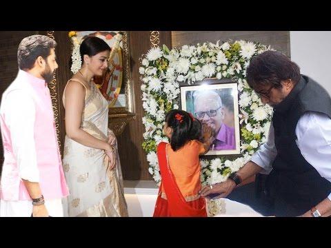 Aishwarya Rai Bachchan And Amitabh Bachchan Arrive To Pay Homage To Krishnaraj Rai