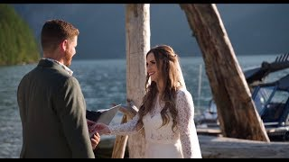 Pitt Lake Elopement & Pre-Recorded Speeches| Alicia & Aaron | Paul Cameron Productions