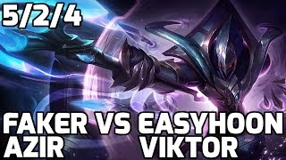 Faker Azir vs Viktor Easyhoon [Patch 5.15]