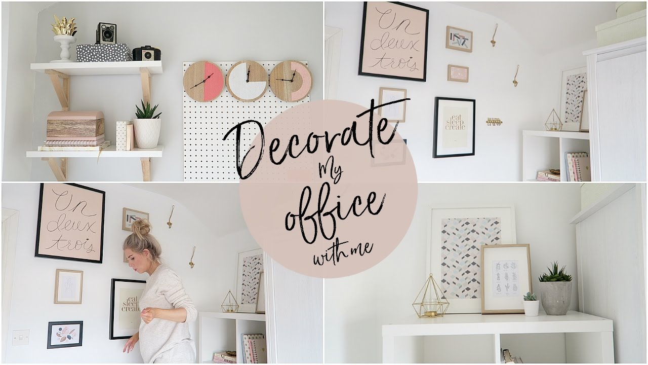 Decorate my office with me kate murnane youtube - How to decorate my home ...
