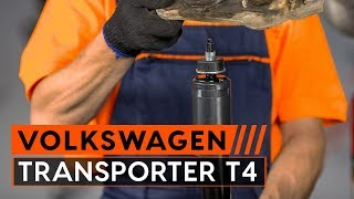 Τοποθέτησης Αμορτισέρ πίσω VW TRANSPORTER IV Bus (70XB, 70XC, 7DB, 7DW): δωρεάν βίντεο