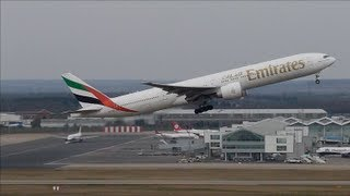Birmingham Airport Landing Takeoff 777 737 318 Emirates Air France Flybe Ryanair Air Berlin 2013