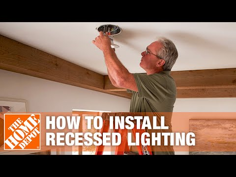 how-to-install-recessed-lighting-|-can-lights-|-the-home-depot