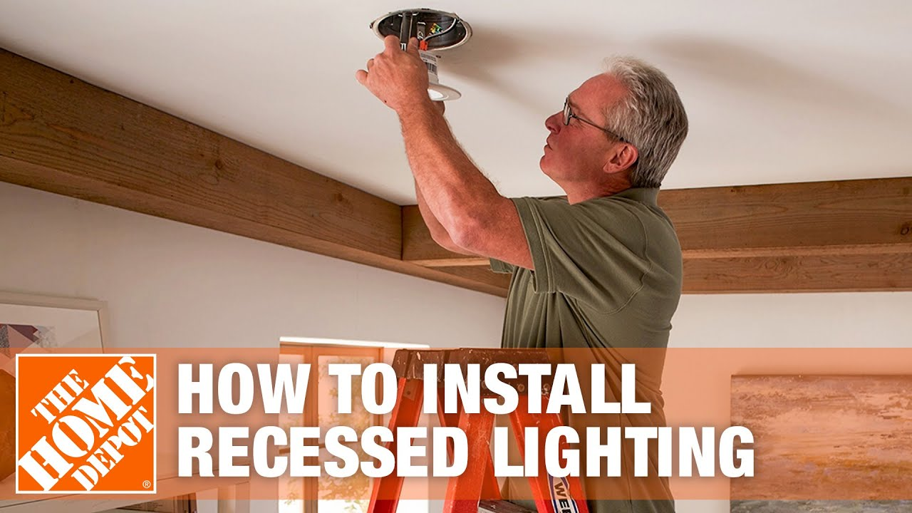 How To Install Recessed Lighting Can Lights The Home Depot Youtube