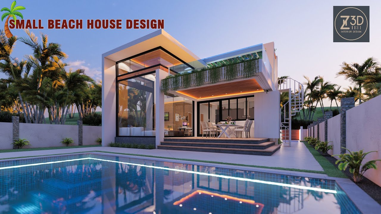 Small House Design Beach House With Infinity Pool Youtube