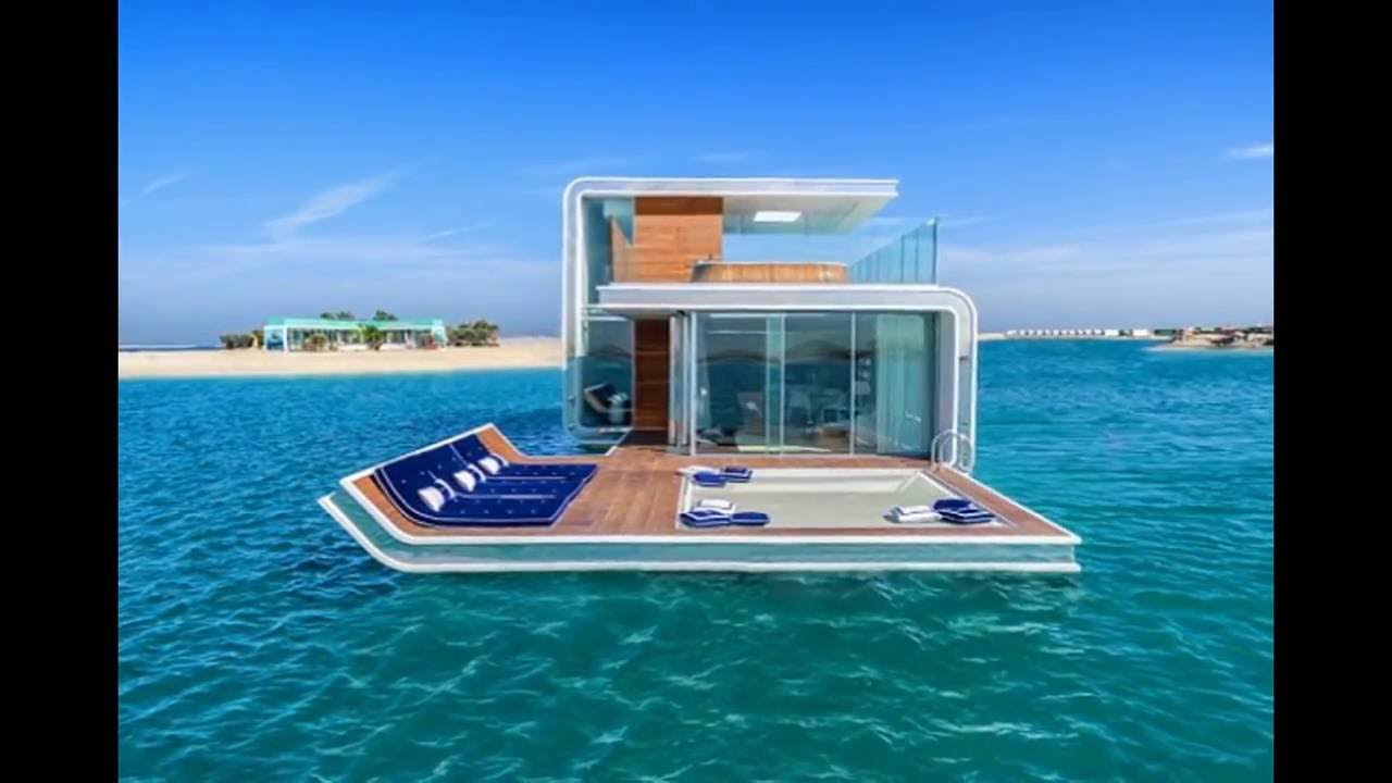 Floating Seahorse Villa Emirati Style, Luxury Floating Homes   YouTube