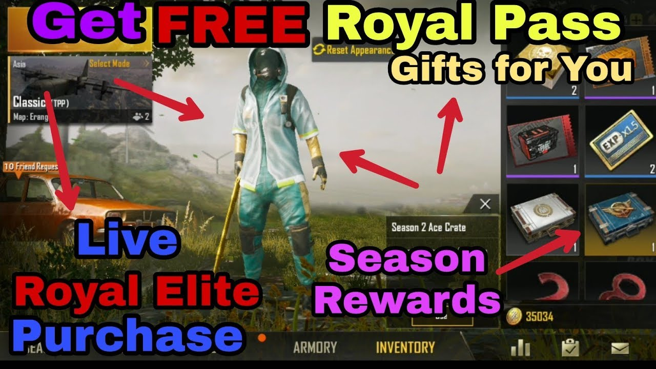 Get Pubg Mobile Free Royal Pass Season 3 New Update Live Purchase With Amazing Things