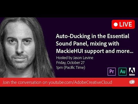 Auto-Ducking and Mackie HUI Automation in Adobe Audition CC 2018 | Adobe Creative Cloud