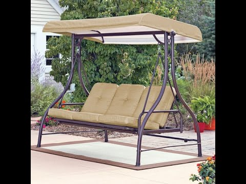 Mainstays Patio Swing Cushion Replacement Youtube