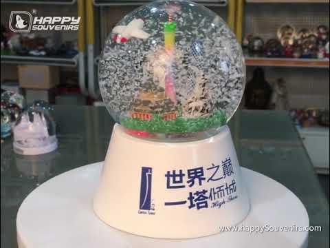 Canton Tower Souvenirs Snow Globe
