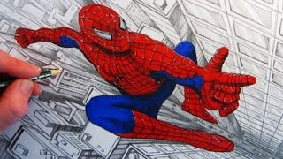 How to Draw Spider-Man: Time-Lapse