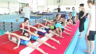 European Union of Gymnastics Camp - Tirrena - July 2010 | Warm up Part 2