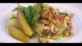 Жареная картошка с грибами. Как пожарить картошку с грибами.