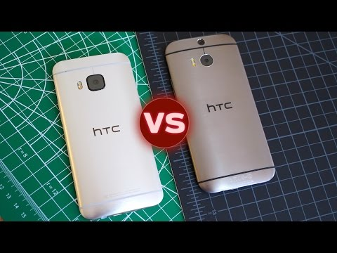 HTC One M9 vs HTC One M8: Sharper, Thicker, Squarer, Golder | Pocketnow