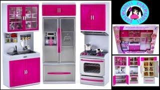 UNBOXING! My Modern Kitchen Playset /Deluxe Modern Kitchen for Barbie dolls! ★ DARLINGDOLLS