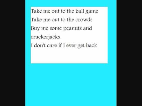 take me out to the ball game kid song with lyrics youtube