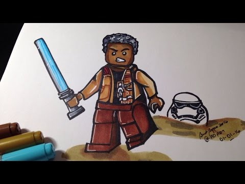 how to draw star wars the force awakens