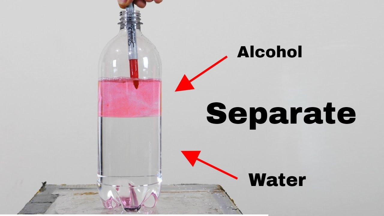 How To Separate Alcohol And Water