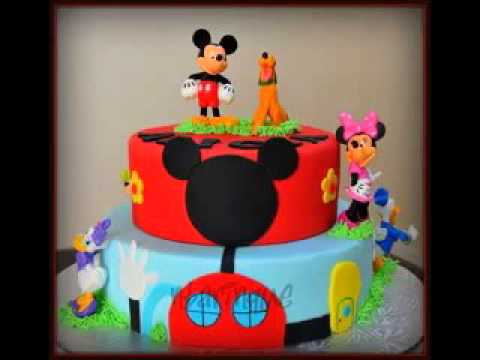 kreative mickey mouse geburtstag kuchen design deko ideen youtube. Black Bedroom Furniture Sets. Home Design Ideas