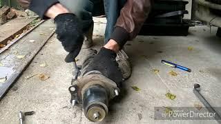 Замена задних амортизаторов Corolla Runx nze 121