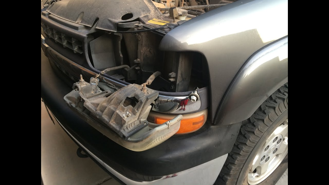 how to change headlight turn signal and running lights chevy silverado gmc sierra suburban yuk [ 1280 x 720 Pixel ]