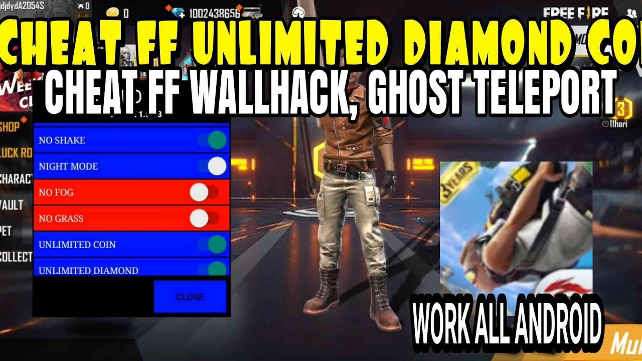 Cara Cheat Ff Unlimited Diamond Coin Di Apk Original Tanpa Gameguardian No Root Cheat Ff Wallhack Youtube