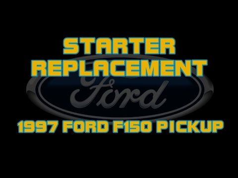 1997 ford f150 pickup - 4 6 - replacing the starter