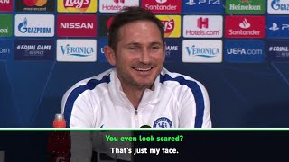 Frank Lampard waves off reporter's suggestion that he was afraid of Ajax