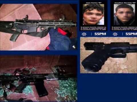 Detienen 2 sicarios con dos AR 15, pistola, chaleco y radio