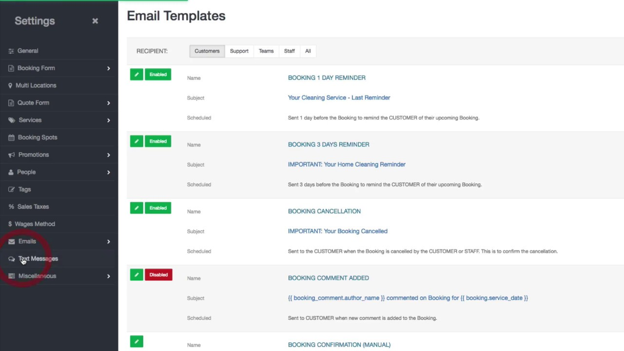 Email and Text Message Templates - Overview - YouTube