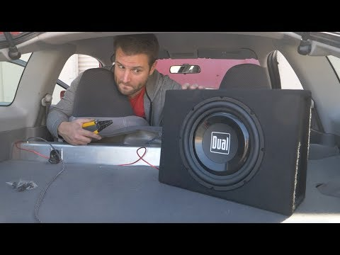 amp and sub wiring diagram single phase motor diagrams how bad is the 70 subwoofer from walmart install review youtube