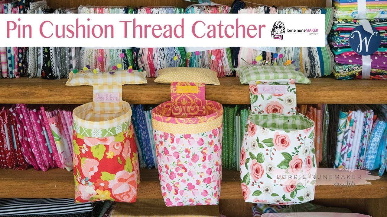 Pin Cushion Thread Catcher Free Svg Included Youtube