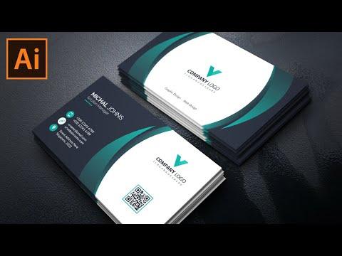 Elegant Business Card Design | Illustrator Tutorial