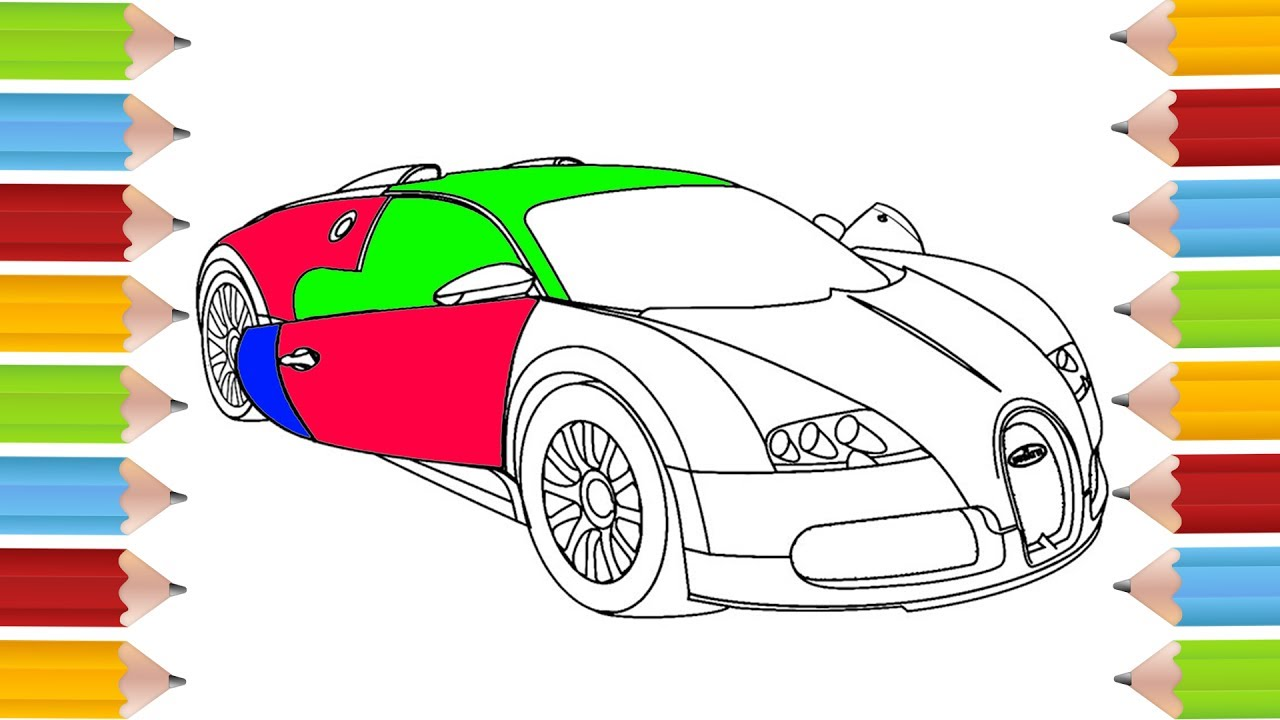 How To Draw A Luxury Car Drawing A Bugatti Car Coloring Pages