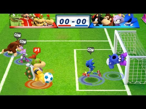 Mario & Sonic At The London 2012 Olympic Games Football #147 Bowser Jr, Bowser, Dr Eggman, Vector