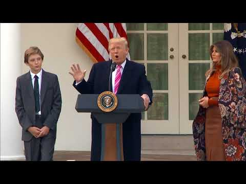 WATCH: President Trump pardons his first Thanksgiving turkey