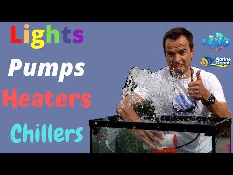 Saltwater Tank Lighting, Heating, & Circulation   Episode 07   Saltwater Aquariums Demystified
