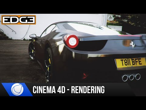 Cinema 4D & Octane Renderer Car Rendering Tutorial - Ferrari Italia Part 1 HD